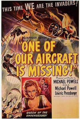ONE OF OUR AIRCRAFT IS MISSING Movie POSTER 27x40 Godfrey Tearle Eric Portman