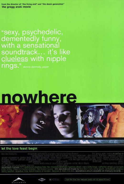 NOWHERE Movie POSTER 27x40 James Duval Rachel True Kathleen Robertson Nathan