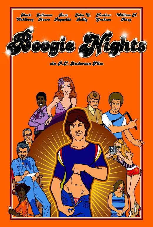 BOOGIE NIGHTS Movie POSTER German 27x40 Michael Penn Mark Wahlberg Burt Reynolds