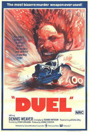 """DUEL Movie Poster [Licensed-NEW-USA] 27x40"""" Theater Size Spielberg 1971"""