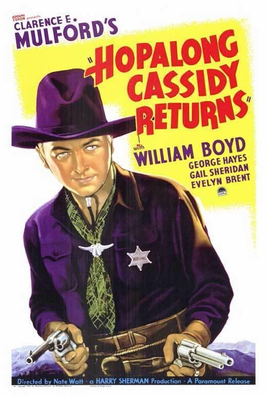 "HOPALONG CASSIDY RETURNS Movie POSTER 27x40 William Boyd George ""Gabby"" Hayes"