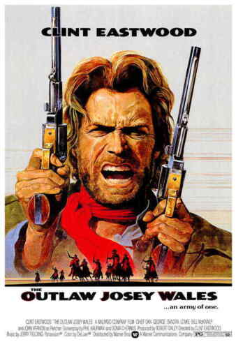 """Outlaw Josey Wales (1976) Style-A 70s Clint Eastwood Western Movie Poster 27x40"""""""