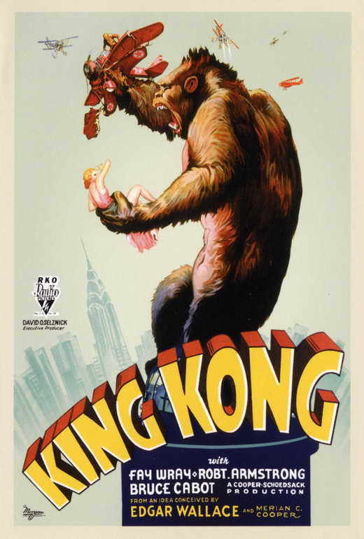KING KONG Movie POSTER PRINT D 27x40 Fay Wray Bruce Cabot Robert Armstrong