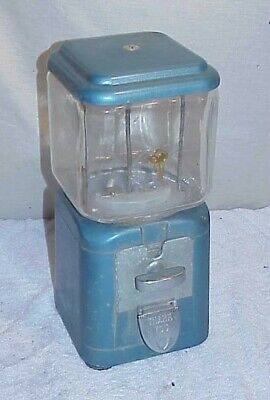 New Old Stock Oak Acorn Peanut Gumball Machine Unused 5 Cent nickel 6 lb glass
