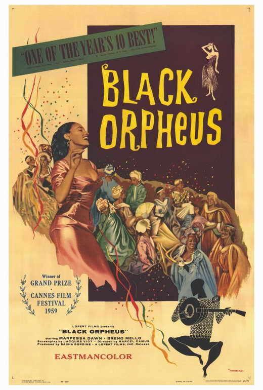 BLACK ORPHEUS Movie POSTER 27x40 B Breno Mello Marpessa Dawn Lea Garcia Fausto