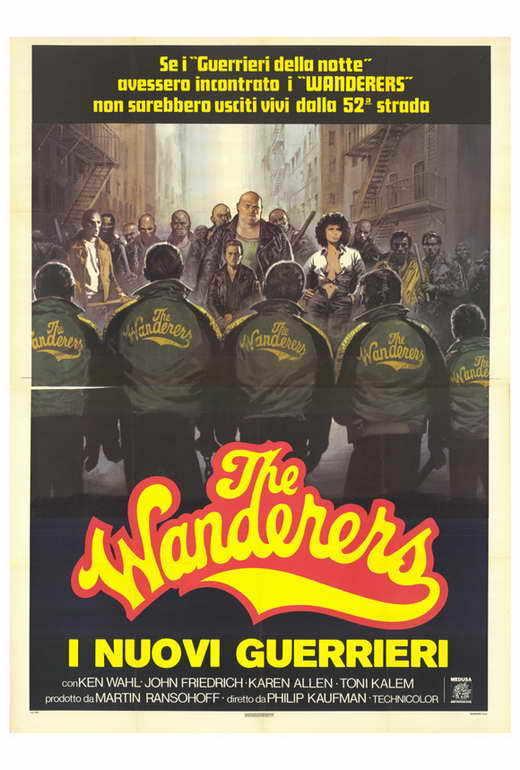 THE WANDERERS Movie POSTER 27x40 Italian Ken Wahl John Friedrich Karen Allen