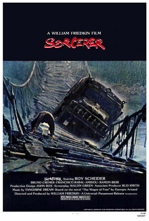 SORCERER Movie POSTER 27x40 Roy Scheider Bruno Cremer Francesco Rabal Soudad