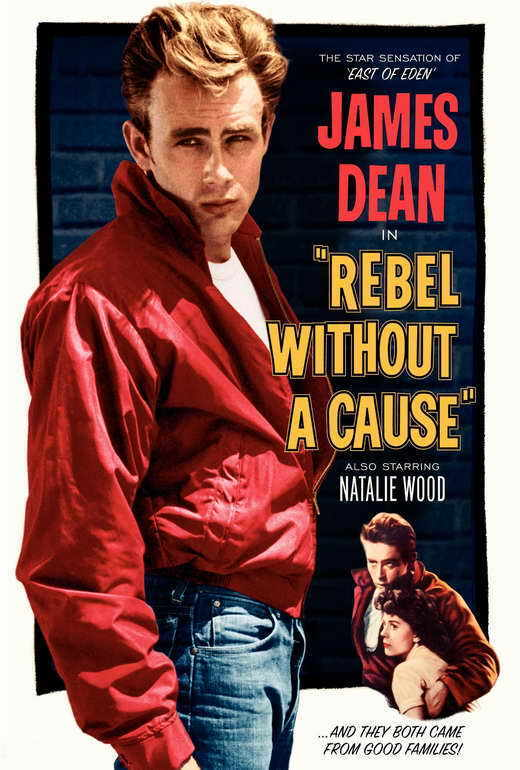 REBEL WITHOUT A CAUSE Movie POSTER B 27x40 James Dean Natalie Wood Sal Mineo