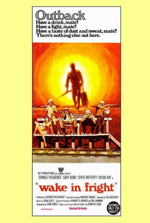 WAKE IN FRIGHT Movie POSTER 27x40 Donald Pleasence Gary Bond Chips Rafferty
