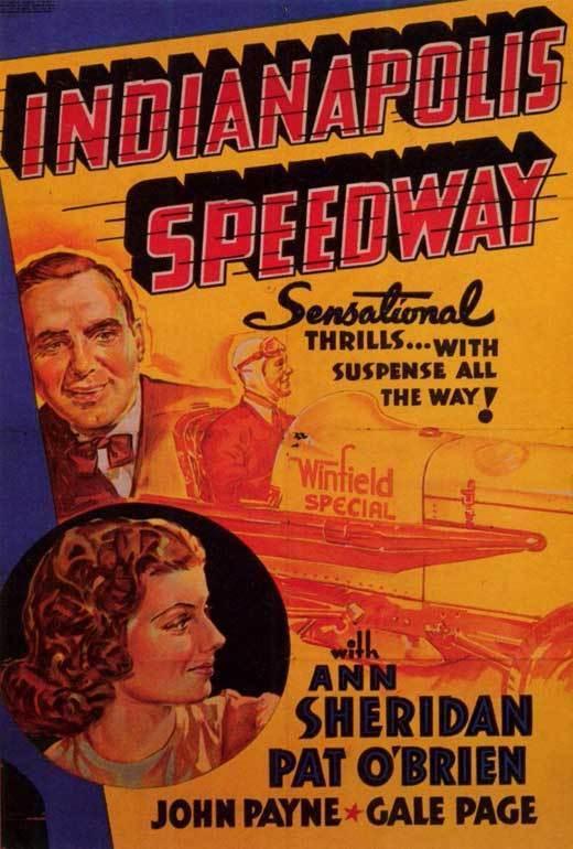 INDIANAPOLIS SPEEDWAY Movie POSTER 27x40 Ann Sheridan Pat O