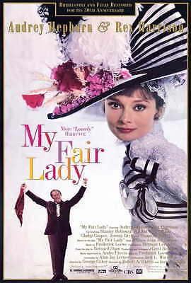 MY FAIR LADY Movie POSTER 27x40 B Audrey Hepburn Rex Harrison Stanley Holloway