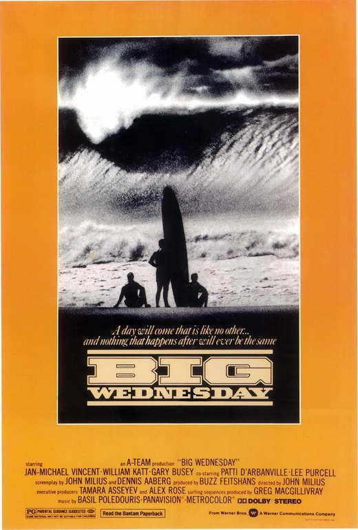 BIG WEDNESDAY Movie POSTER 27x40 C Jan-Michael Vincent Gary Busey William Katt