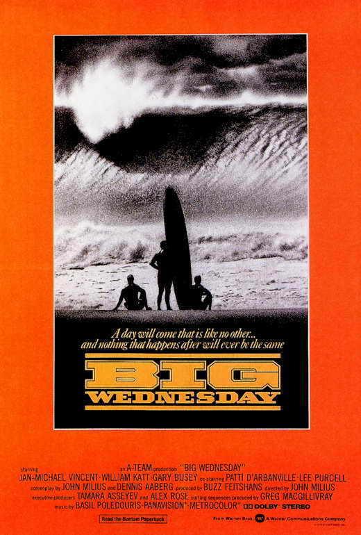 BIG WEDNESDAY Movie POSTER 27x40 Jan-Michael Vincent Gary Busey William Katt