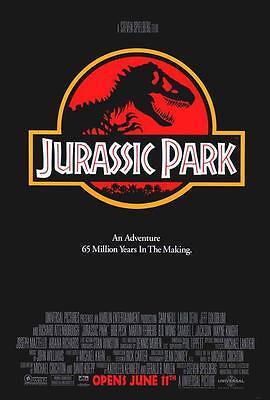 Jurassic Park Movie Poster 27 X 40 Sam Neill  Laura Dern  A  Licensed New5