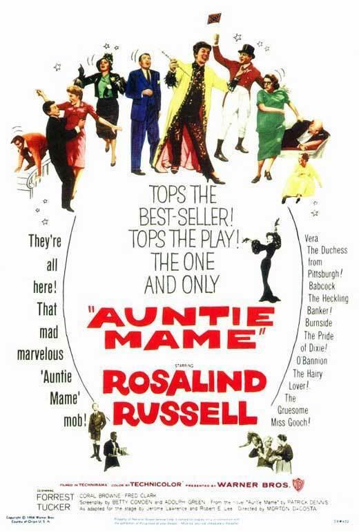 AUNTIE MAME Movie POSTER 27x40