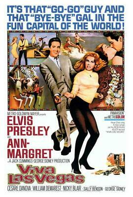 Viva Las Vegas Movie POSTER 27 x 40 Elvis Presley, Ann-Margret, A