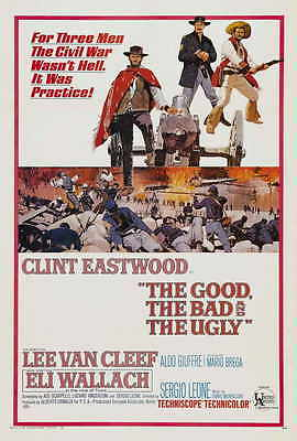 THE GOOD, THE BAD AND THE UGLY Movie POSTER 27x40