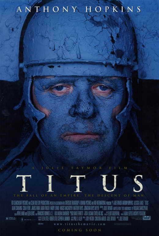 TITUS Movie POSTER 27x40 Anthony Hopkins Jessica Lange Alan Cumming Harry J.
