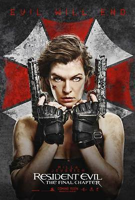Resident Evil Final Chapter Movie Poster  Licensed New Usa  27X40  Theater Size