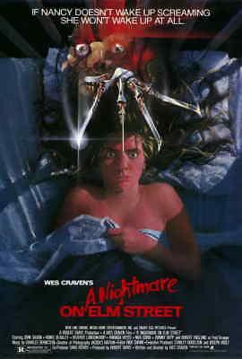 "Nightmare On Elm Street (1984) 80s Wes Craven Freddy Krueger Movie Poster 27x40"""