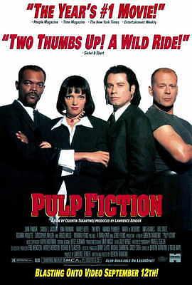 Pulp Fiction Movie Poster 27X40 F John Travolta Samuel L  Jackson Uma Thurman