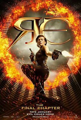 Resident Evil  The Final Chapter Movie Poster 27 X 40  B    Licensed New