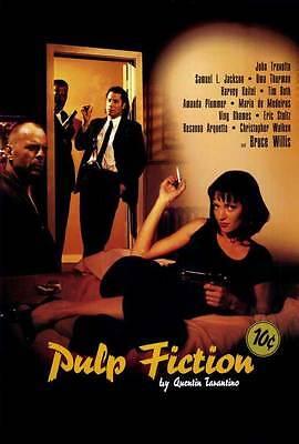 Pulp Fiction Movie Poster 27X40 C John Travolta Samuel L  Jackson Uma Thurman