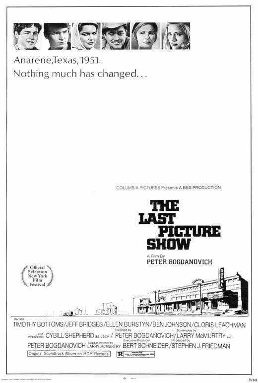 THE LAST PICTURE SHOW Movie POSTER 27x40 Jeff Bridges Timothy Bottoms Ben