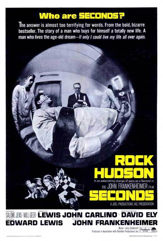 SECONDS Movie POSTER 27x40 Rock Hudson John Randolph Salome Jens Will Geer Jeff