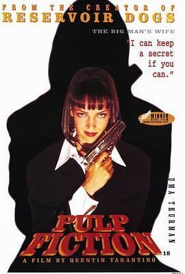 Pulp Fiction Movie Poster 27X40 E John Travolta Samuel L  Jackson Uma Thurman