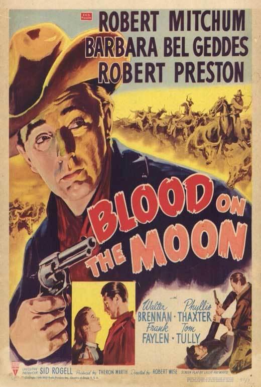 BLOOD ON THE MOON Movie POSTER 27x40 Robert Mitchum Robert Preston Walter
