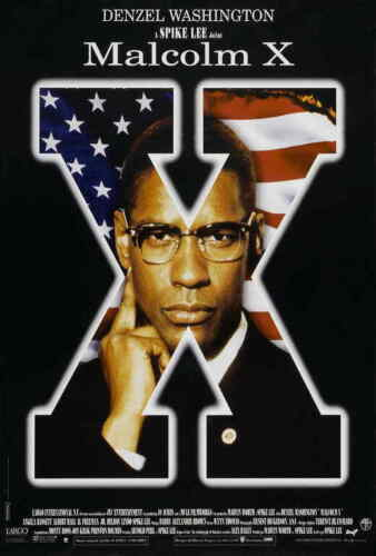 """MALCOLM X Movie Poster 27x40"""" Theater Size - Licensed   New   Denzel"""