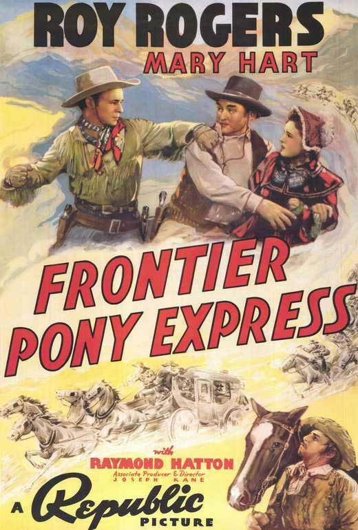 FRONTIER PONY EXPRESS Movie POSTER 27x40 Roy Rogers Lynne Roberts Raymond Hatton