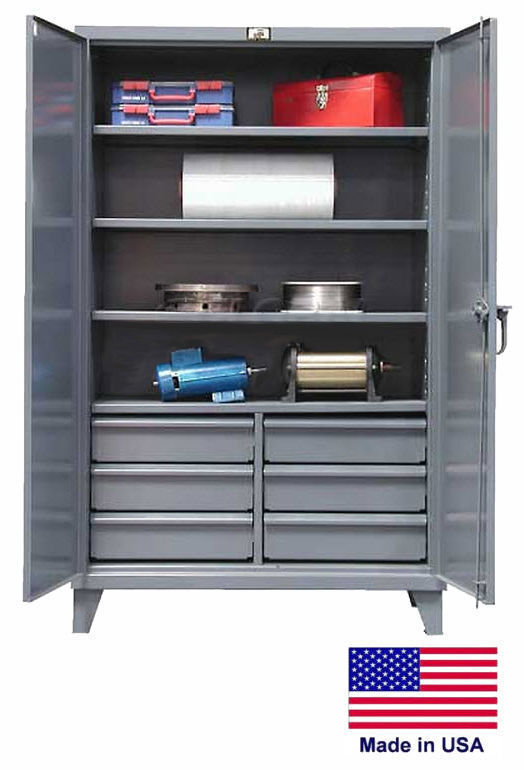Steel Cabinet Commercial/industrial - Shelves & Drawers 4/6 - 78 H X 24 D X 48 W