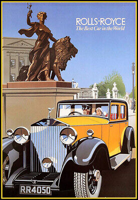Rolls Royce The Best Car in the World Deco   Art Ad Poster (The Best Rolls Royce)