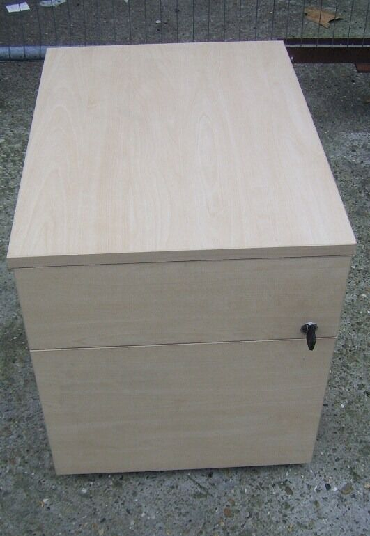 WOODEN 2 DRAW UNDER DESK PEDESTAL FILING CABINET 14 AVAILABLE OTHER OFFICE STUFF FOR SALE