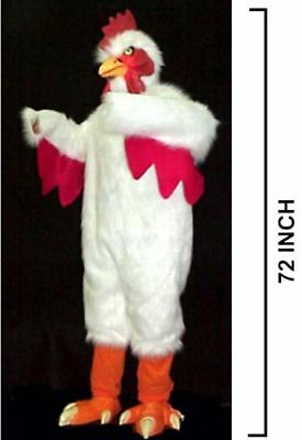 DELUXE WHITE CHICKEN SUIT adult size bird costume party dress up outfit - White Bird Costume