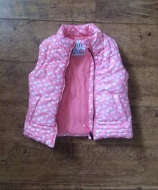 Mothercare pink girls body warmer / gilet 3-4 years