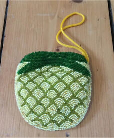Quirky Pineapple Beaded Purse