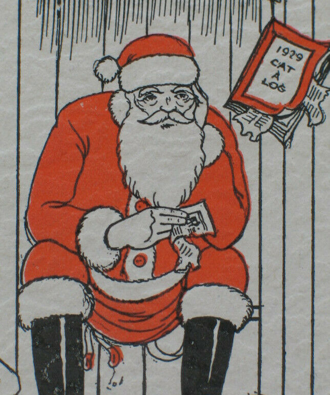 Vintage 1933 Joke Christmas Card