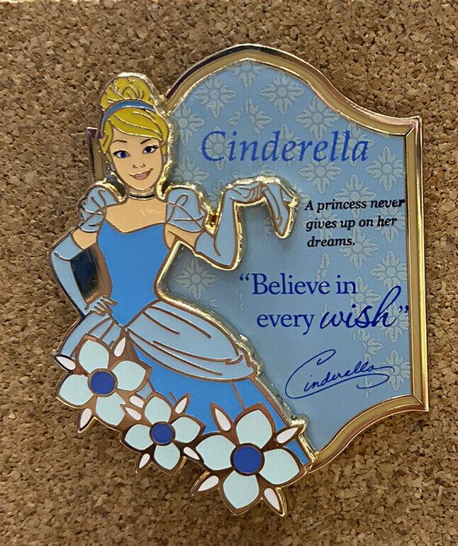 HKDL Hong Kong Disney Pin 2021 Princess Cinderella Pin W/ postcard