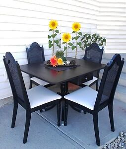 Stunning Antique! Refinished 5-pc DUNCAN PHYFE Dining Set