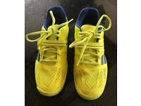 Babolat Junior Propulse All Court Tennis Shoes - Yellow/Blue size UK 6.5/Eur: 40