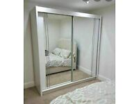 👌🌈 BRAND NEW MODERN 2 & 3 DOORS MIRRORED SLIDING WARDROBES, LED OPTIONS👌