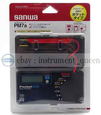 Digital Pocket Mini Size Portable Multimeter Sanwa Pm7a Dmm 4000 Count Dc Ac New