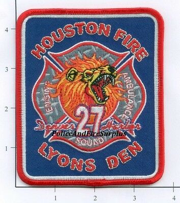Texas - Houston Station 27 TX Fire Dept Patch - Lyons Den