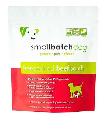 - Small Batch Freeze Dried Dog Food Beef Flavor 14oz