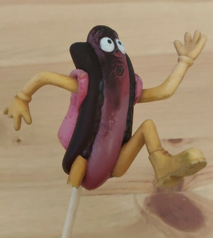 Der Wienerschnitzel Antenna Topper FRANTIC Running Hot Dog with Backpack. USED