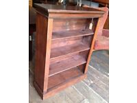 Antique Stained Pine Bookcase/ Shelves