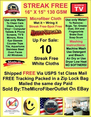 Ultimate Cleaning Cloth BEST Micro Fiber 10 Pack FREE Shipping! Made in Germany